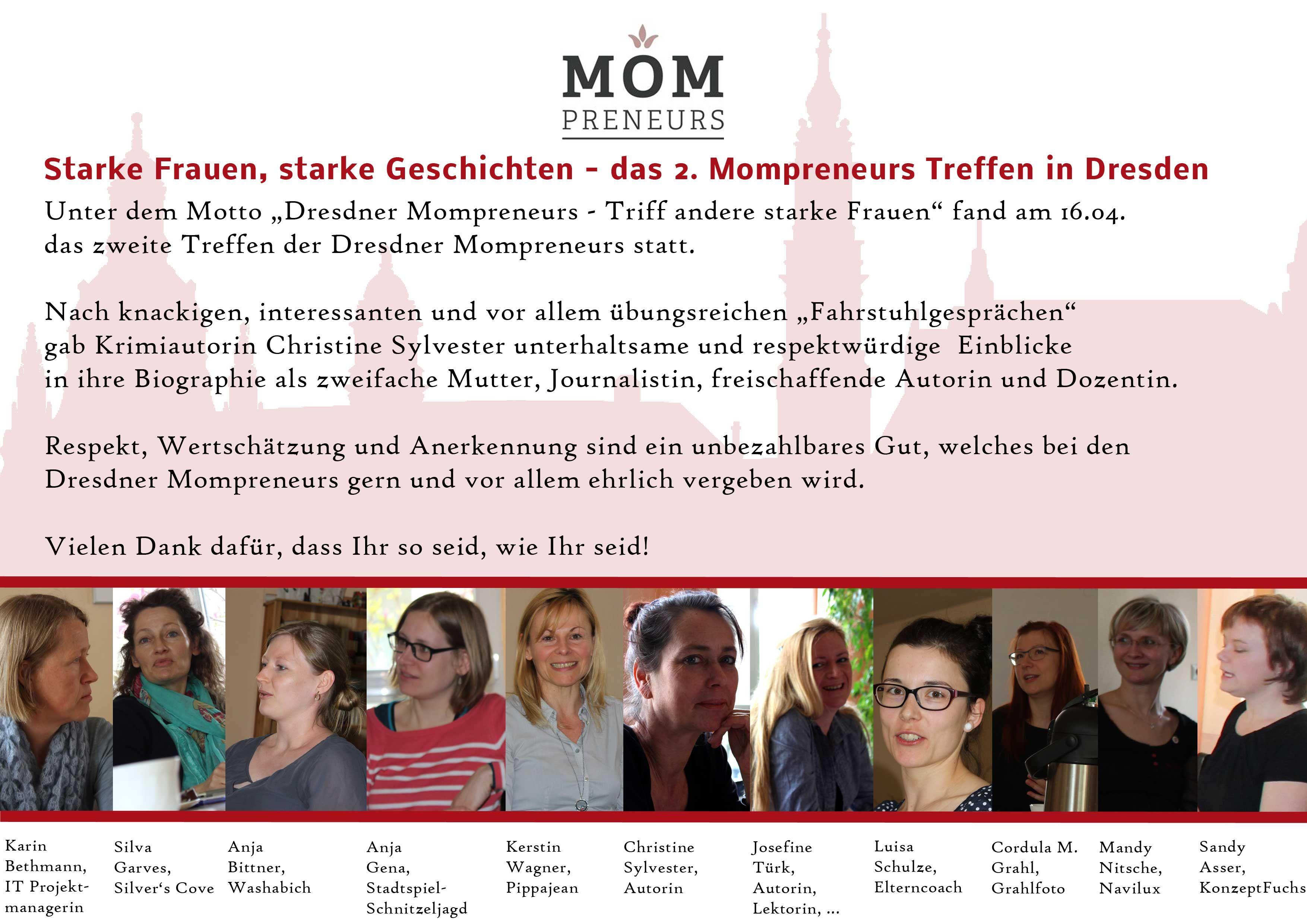2. Dresdner Netzwerktreffen Mompreneurs