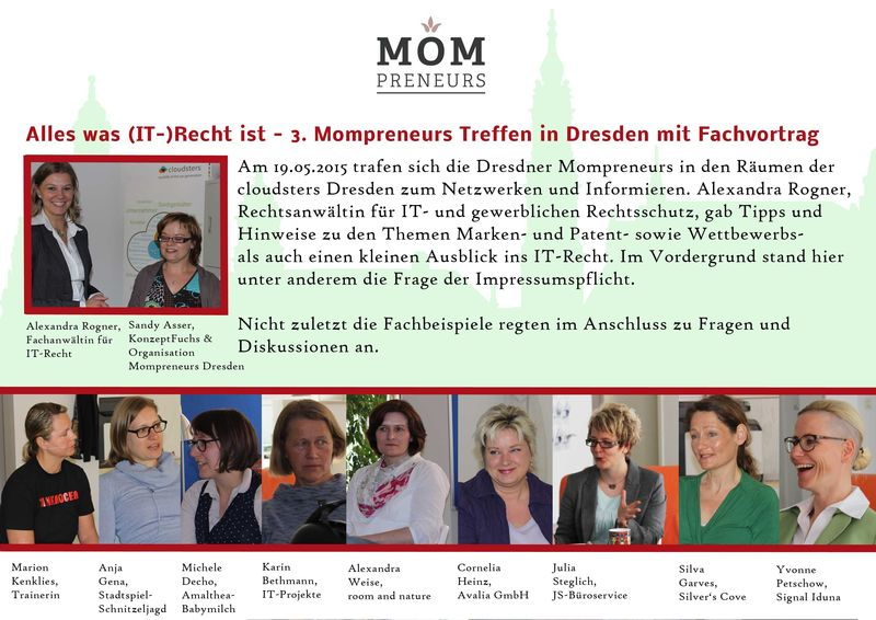 Frauen, Dresden, Netzwerk, Mütter, Business, Mompreneur, Entrepreneur, Unternehmerinnen, Start Ups,