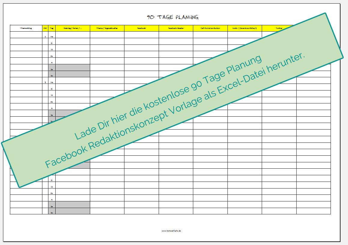 90Tage-Planung-Facebook-Redaktionskonzept-Vorlage