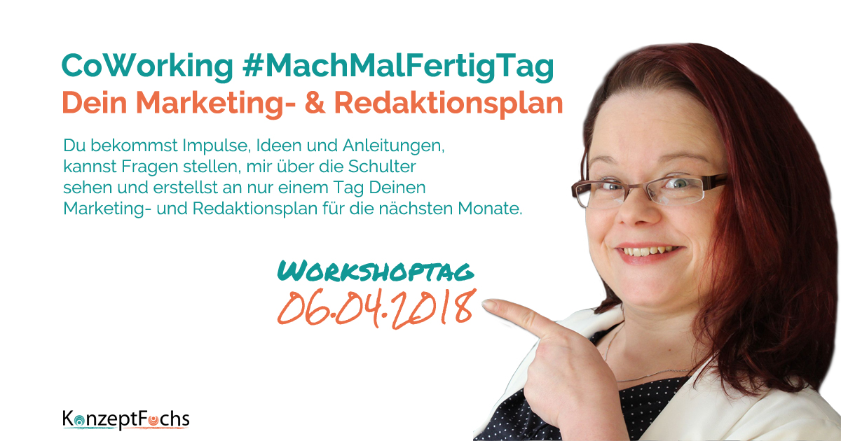 Workshoptag Marketing- und Redaktionsplan