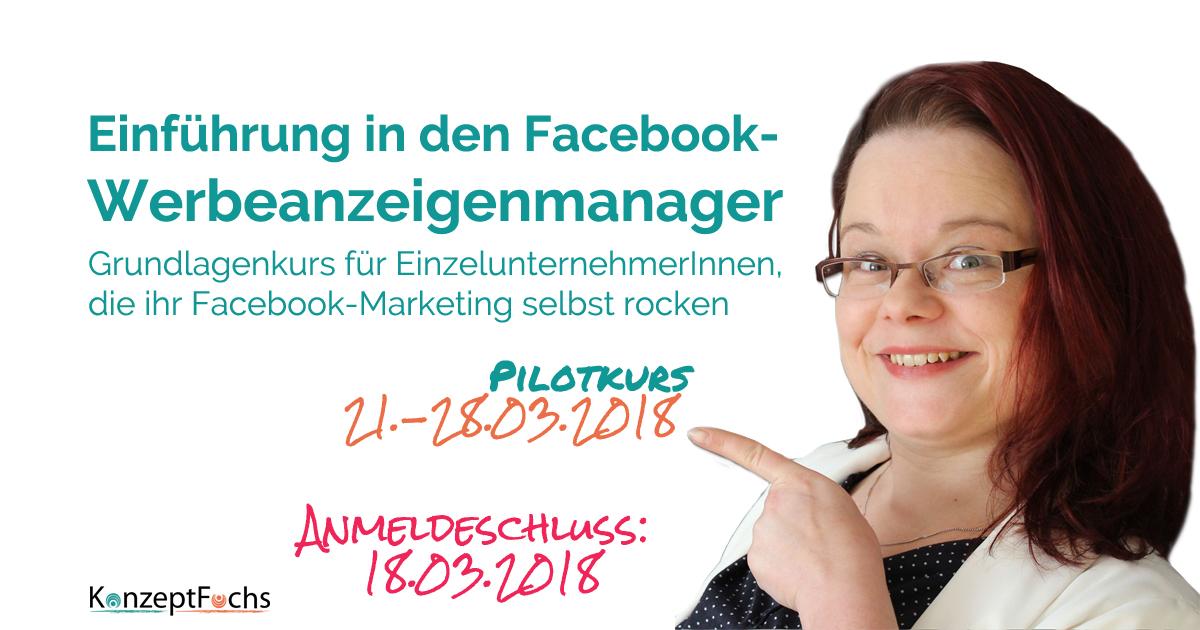 einführung facebook werbeanzeigenmanager