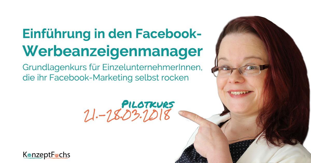 Einführung in den Facebook Werbeanzeigenmanager