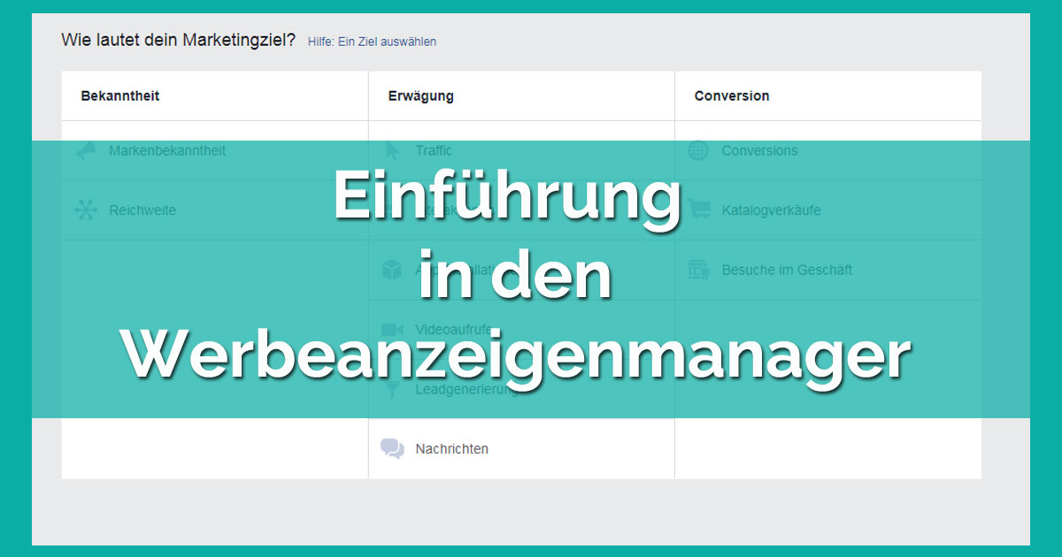 Webinar: Einführung in den Werbeanzeigenmanager